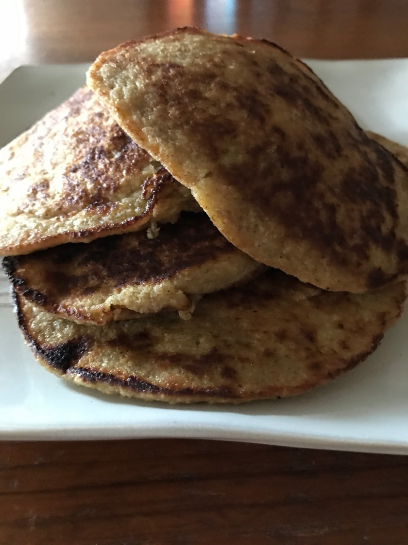 Homemade banana oatmeal pancakes